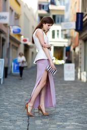 skirt,slit skirt,maxi skirt,pink maxi skirt,fashion blogger,summer skirt,ruched,draped