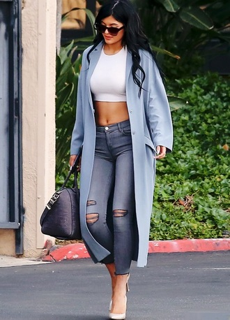 jeans grey kylie jenner jacket top