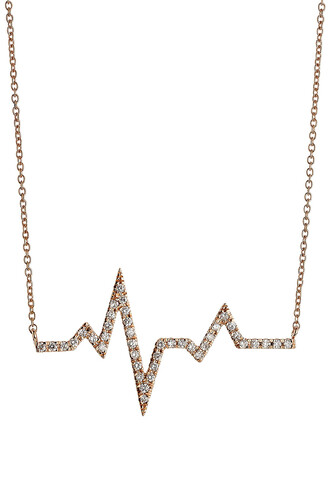 rose gold rose diamonds necklace gold necklace gold white jewels