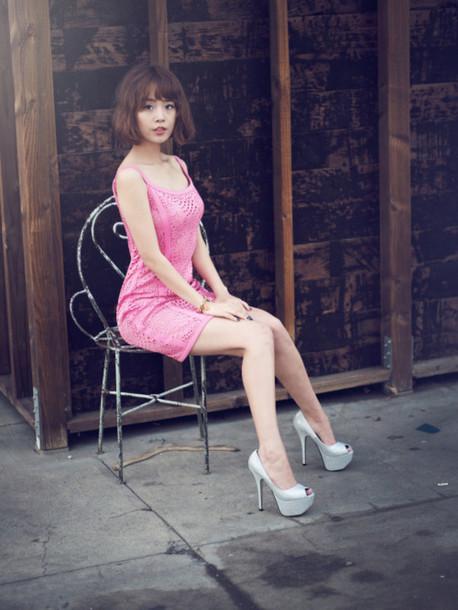 jullianne blogger pink dress