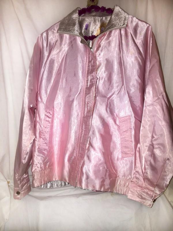 Jacket pink vintage windbreaker grunge pastel pink for Pastel pink dress shirt