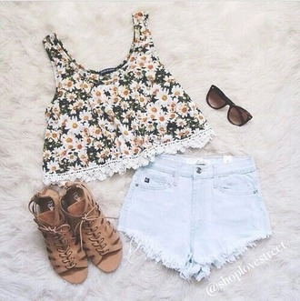 top daisy shorts shoes