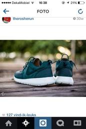 shoes,green,dark green,green suede,nike blazer high suede green,nike roshe run,nike,nike sneakers,leather,weave,cute,nice