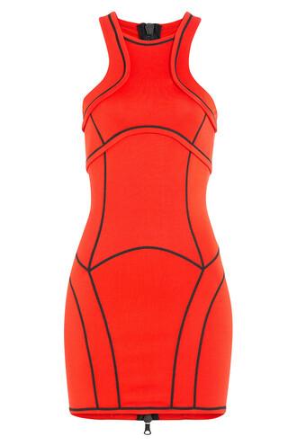 dress mini orange