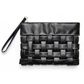 bag,clutch,handbag,black,leather,cross over,texture,leather clutch