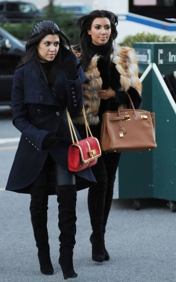 kourtney kardashian coat blue coat