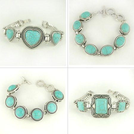 Wholesale Turquoise Bracelet Vintage Style Turquoise Jewelry Bracelets-in Strand Bracelets from Jewelry on Aliexpress.com
