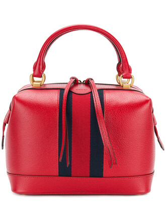 vintage women bag leather cotton red