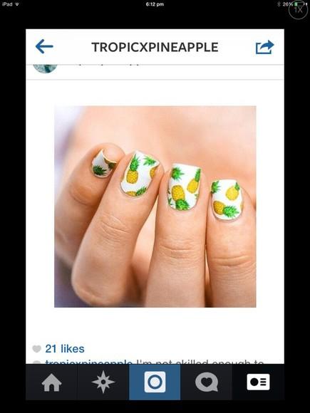 nail polish pineapple  🍍