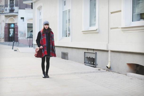 kapuczina blogger tartan scarf blanket scarf satchel bag scarf coat skirt sweater shoes bag