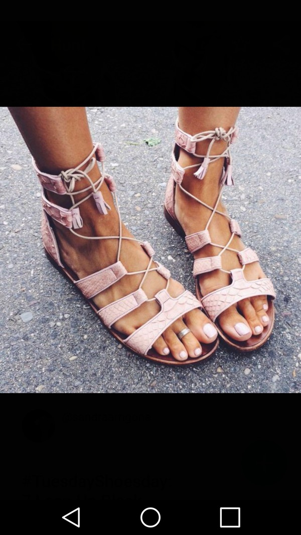 c020cf08a85f Lace-Up Gladiator Sandals from Forever 21