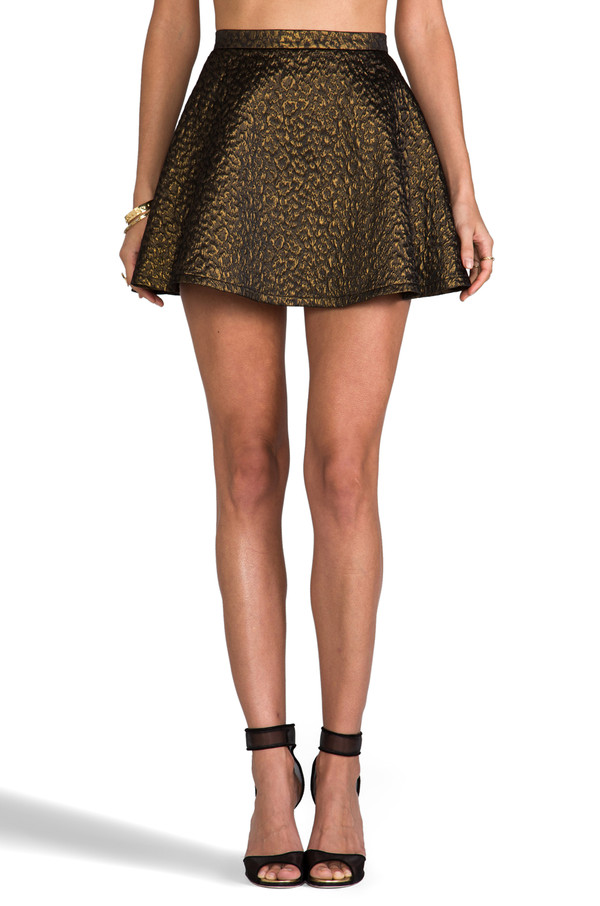 skirt amanda uprichard round skirt mini skirt diane von furstenberg rae heel gorjana ring bracelets house of harlow leopard print jewels shoes