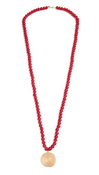Elizabeth and James necklace gold red jewels