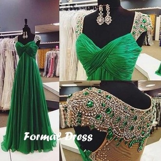 dress green dress royalty glamour emerald green chiffon prom dresses