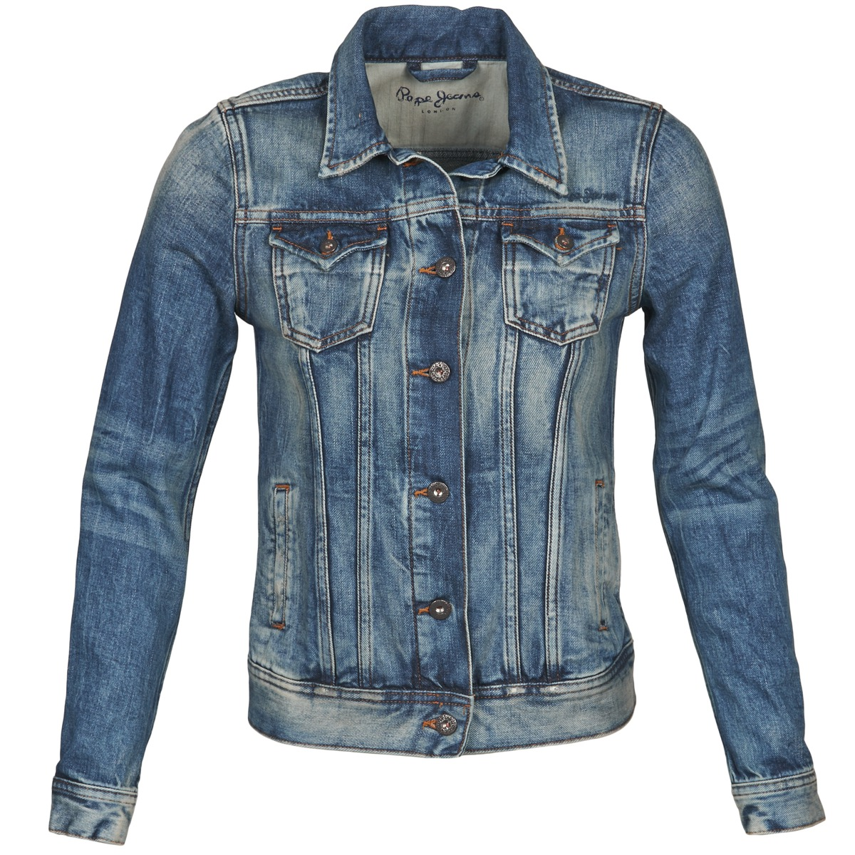 Denim jackets Pepe jeans THRIFT Blue - Free next day delivery with Spartoo.co.uk ! - Clothing Women £ 99.19