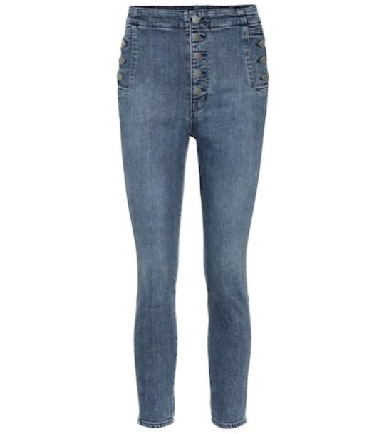 J Brand Natasha high-rise skinny jeans in blue