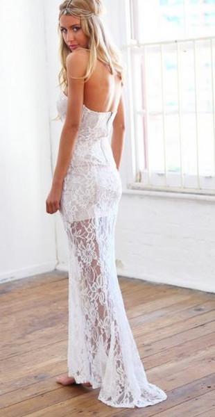 White lace rachel dress