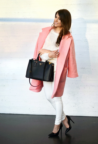 mariannan coat sweater bag jeans shoes