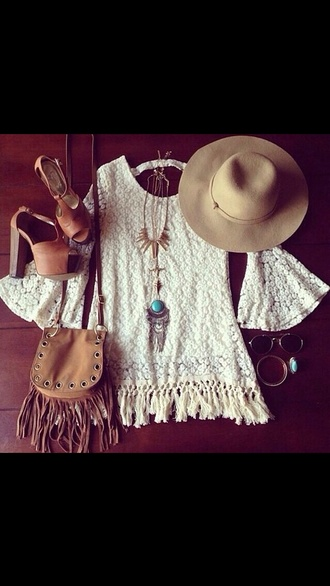 hippie coachella fringed bag crotchet dress boho boho chic heels dress bohemian dress shoes gypsy high heels