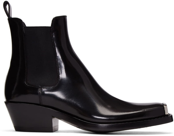 CALVIN KLEIN 205W39NYC chelsea boots black shoes