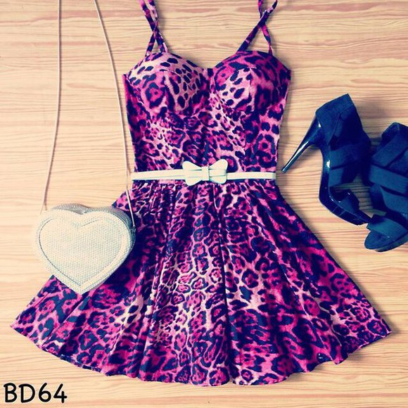 bustier dress leopard print