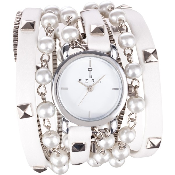 Ezra Studded Wrap Watch with Pearls - Polyvore