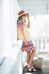 whiskey and lace by erika altes -,blogger,dress,hat,shoes,bag,sunglasses