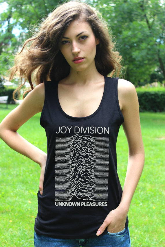 Joy division unknown pleasures tank top punk rock women singlet tshirt lady fit vest crop top t shirt