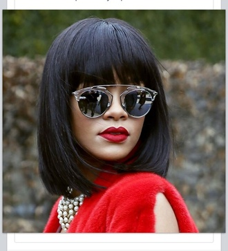 sunglasses rihanna silver rihanna style sunnies mirrored sunglasses retro sunglasses accessories accessory celebrity style celebrity celebstyle for less