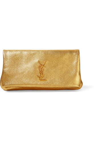 leather clutch metallic hollywood clutch leather gold bag