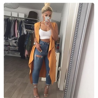 coat long cardigan mustard trench coat cover up yellow coat