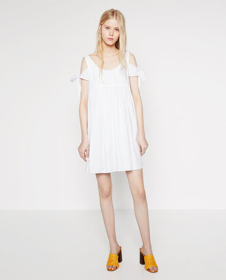 dress white dress summer dress off the shoulder dress zara