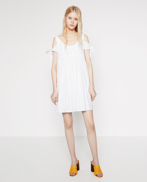 Dress white dress summer dress off the shoulder dress zara dress white dress summer dress off the shoulder dress zara wheretoget mightylinksfo