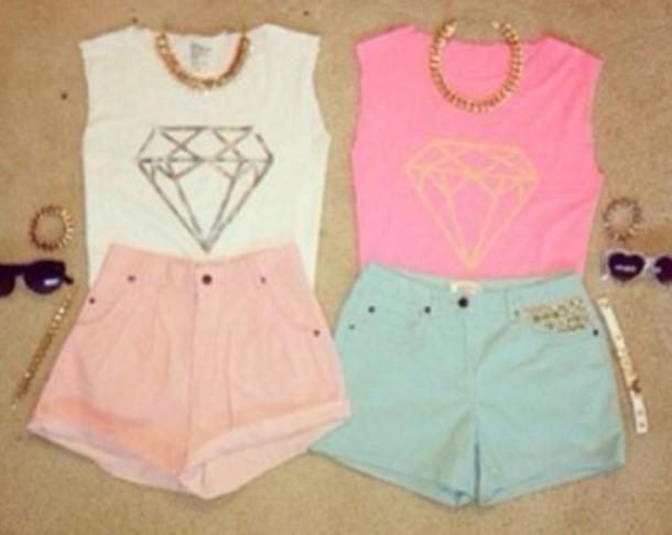 shirt pink diamond shirt