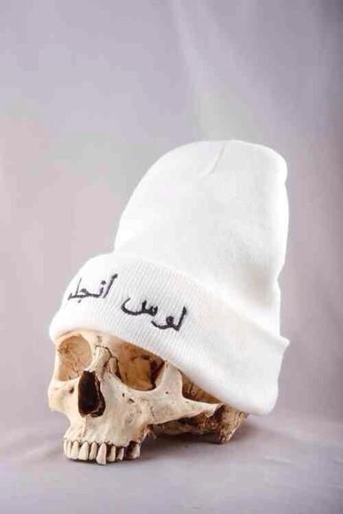 hat white hat beanie white beanie white alexander-wang arabic style arabic alexanderwang