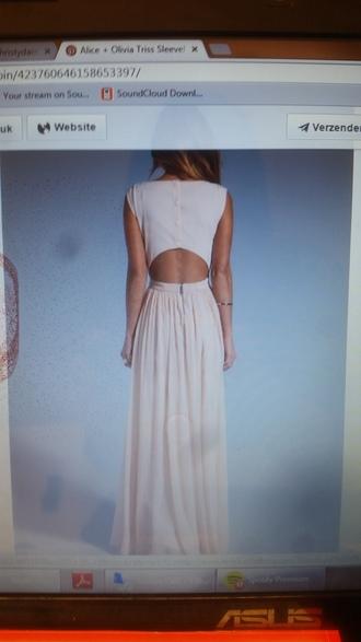 dress white dress long backless lace evening dress summer dress maxi dress
