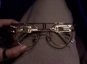 sunglasses bvlgari fashion round frame glasses