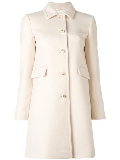 gucci coat women nude wool