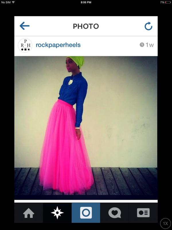 skirt neon pink