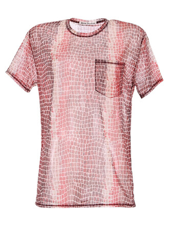 t-shirt shirt printed t-shirt red top