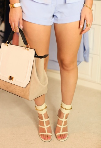 fashion faux leather heels strappy heels cut out shoes bag