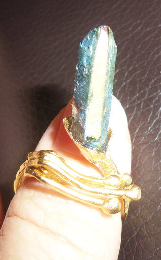 jewels statement ring gold midi rings quartz blue quartz gold ring crystal quartz