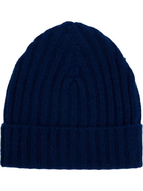 warm hat beanie knitted beanie blue