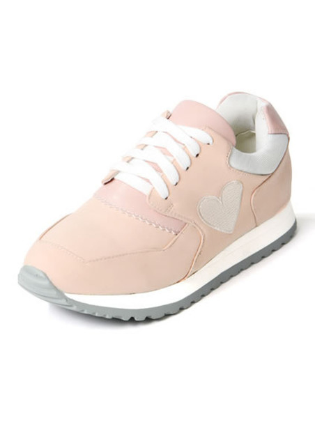 shoes pink heart kawaii