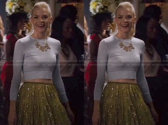 skirt crop tops crop jaime king hart of dixie top necklace jewels
