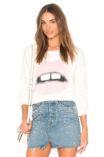 Lauren Moshi pullover sweatshirt vintage pullover vintage white sweater