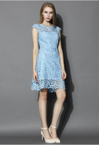 d67d288536e Blue Jasmine Lace Crochet Dress - Retro
