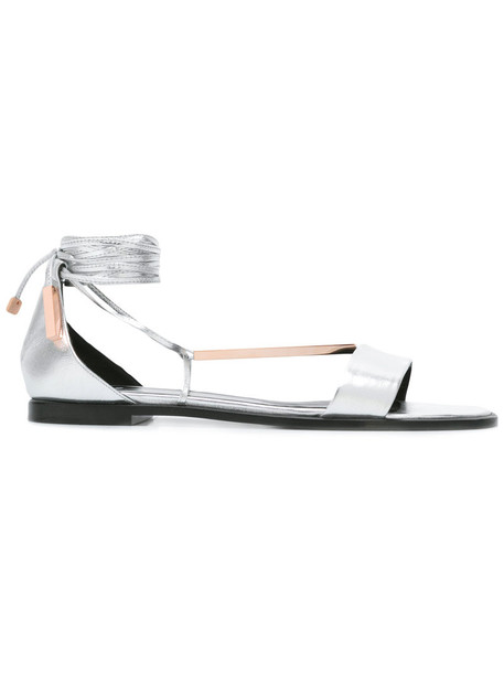 Pierre Hardy women sandals lace leather grey shoes