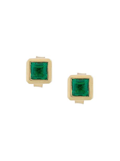 women earrings stud earrings gold green yellow jewels