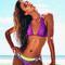 Robb & lulu purple bikini top